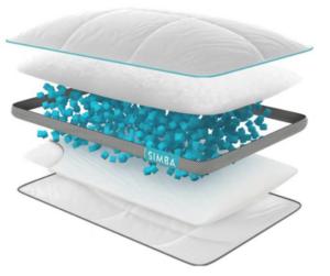 Simba Hybrid pillow layers