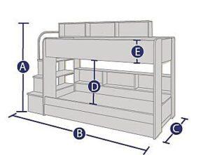 Dreams Lydia bunk bed dimensions